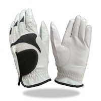Golf Glove Color White Combined With Black