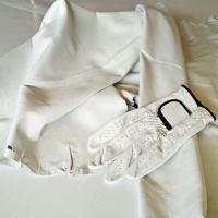 Sheep Cabretta Color Pearl White For Gloves