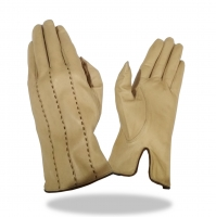 Batting Glove Full Leather Color Cream