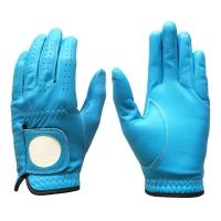 Cabretta Leather Golf Glove Color Blue