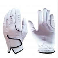 Golf Glove Full Leather Color White
