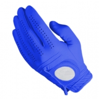Golf Glove Full Leather Color Blue