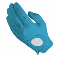 Golf Glove Full Leather Color Lght Blue