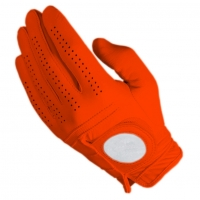 Golf Glove Full Leather Color Orange