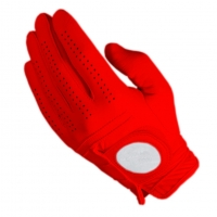 Golf Glove Full Leather Color Red