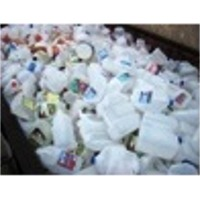 Plastic Scrap - HDPE Milk Bottle