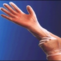 Vinyl Exam Glove, Clear, Powdered Free