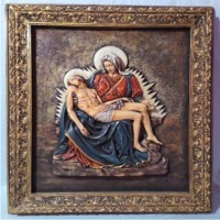 Pieta Wings Statue With Frame