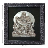 Pieta MN Silver Statue With Frame