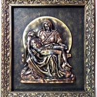 PIETA Copper Gold -  The Passion of Christ
