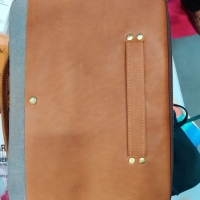 Leather And Canvas Pad-Folio