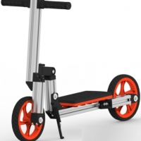 Modular Assembly Scooter With Two Wheels