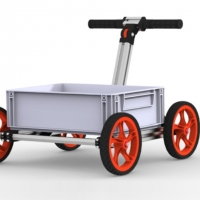 Modular Assembly Walker With Four Wheels