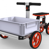 Modular Assembly Transporter With Four Wheels
