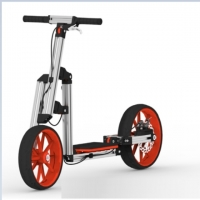 Modular Assembly Scooter With Two Big Wheels