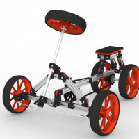 Modular Assembly Children Car With 4 Wheels