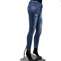 Womens Ripped Blue Jeans
