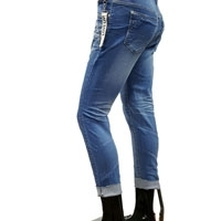 Women And Mens Ripped Blue Jeans