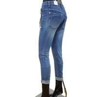 Women And Men Ripped Blue Jeans
