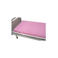 Hospital Bed Sheet Pink Line Square