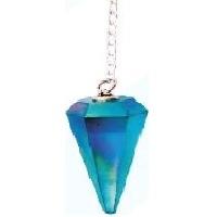Aqua Aura Pointed Pendulum