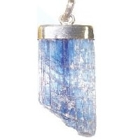 Rough Blue Kyanite Pendant