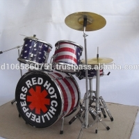 Miniature Drum Set Red Hot Chili Peppers