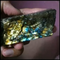 Natural Indonesia Rainbow Labradorite Stone Slab