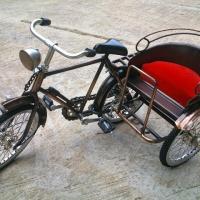 Miniature Bicycle Metal Tricycle Model