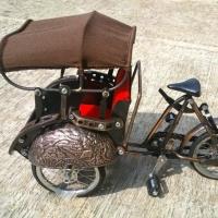 Miniature Bicycle Metal Yogyakarta Becak