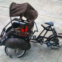 Miniature Bicycle Metal Material East Java Becak