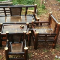 Indonesia Bamboo Furniture Garden Chairs & Table