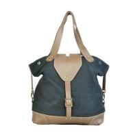 Canvas With Leather Trim Ladies Handbag