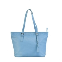 100% Genuine Leather Blue Ladies Handbag