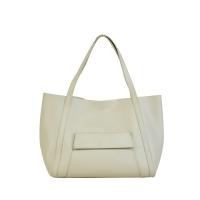 100% Genuine Leather Off White Ladies Handbag