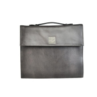 100% Genuine Leather Black Gents Laptop Bag