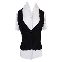 Ladies Blouse With Waistcoat