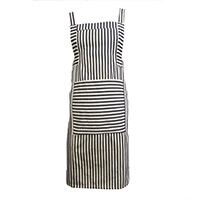 Cross Back Stripe Apron