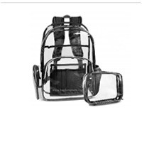 Clear Backpack With Cosmetic Bag