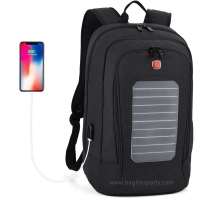 Solar Powered Backpack With USB Charging Port