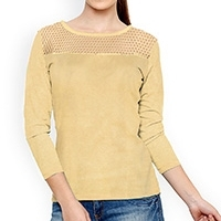 Round Netted Casual Top