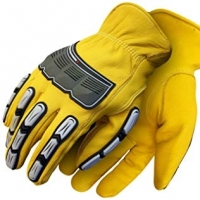 Mechanic Gloves With Rubber Protector