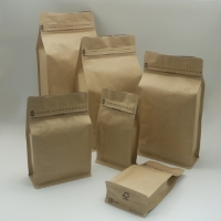 Box Style-Flat Bottom Bags with zipper
