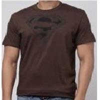Mens round neck brown t-shirt