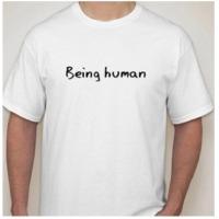 Mens round neck white t-shirt