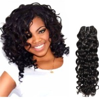 Virgin Remy Weft Hair Deep Curl Extensions