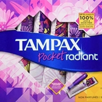 title='Tampax Pocket Radiant Plastic Tampons'