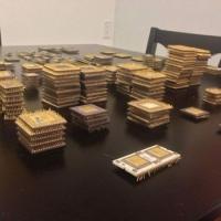 Pentium Pro, 386, 486 Ceramic CPU Scrap