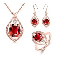 Necklace Ring Earrings Jewelry Sets