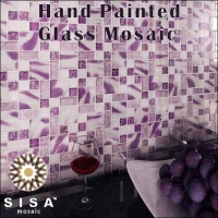 Hand Painted Glass Mosaic Tiles